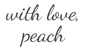 with love, peach