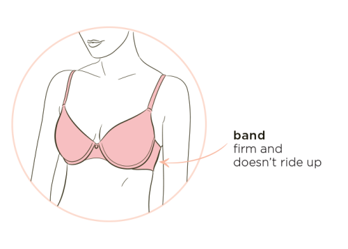 Bra fit tip #1: band doesn't ride up
