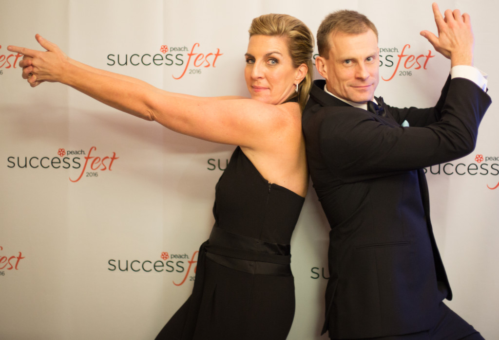 Janet Kraus, peach CEO and Derek Ohly, peach COO, at the annual Successfest conference