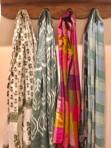 scarves in my closet